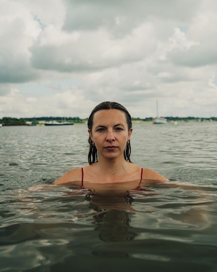 Photograph of a wild swimmer