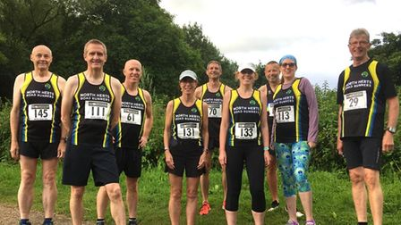 North Herts Road Runners at the Bedford AAA 10k.