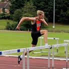 Stevenage & North Herts Athletics Club's Ed Laws in the 110m hurdles