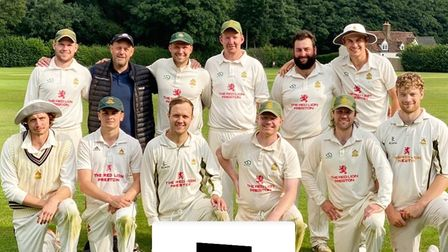 Preston Cricket Club line-up after the win over Dunstable in the Herts Cricket League