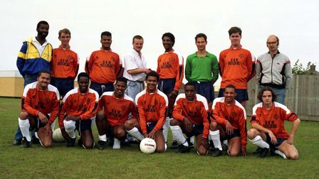 STAR MEMORY FRAME NOSTALGIAOxborrows football team in Ipswich, wearing a new strip in Octobe