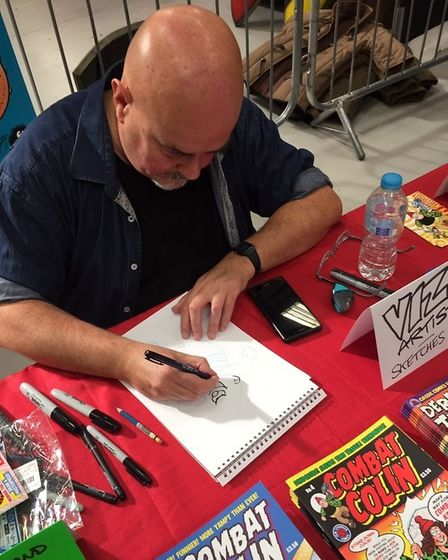 Comic book artist Lew Stringer will be sketching live.