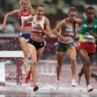 St Albans' Lizzie Bird in the 3000m steeplechase Olympic final at Tokyo 2020.