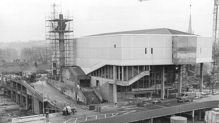 The replacement 1016-seat Odeon cinema nearing completion that was built in Anglia Square