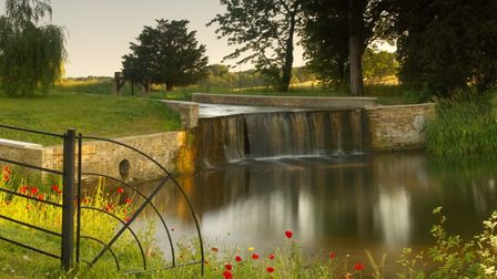 The Tumbling Bay Weir at Woodhall Park Estate