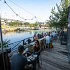 Two More Years restaurant and bar overlooks the River Lea.