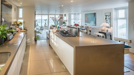 Enjoy sea views as you entertain and cook for friends and family