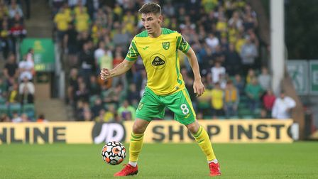 Billy Gilmour of Norwich in action during the Pre-season friendly match at Carrow Road, NorwichPict