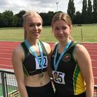 Lizzy Harrison and Sophie Bambridge of Huntingdonshire AC