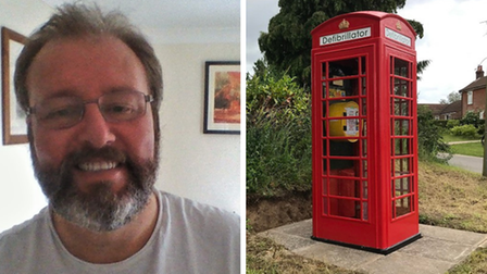 Andrew Williams, in whose memory a defibrillator has been dedicated in a phone box in Skeyton.