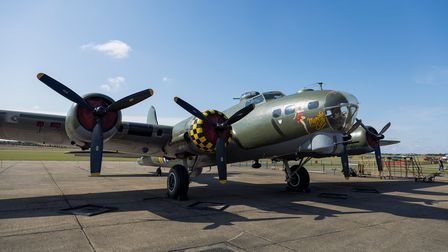 Boeing B-17Flying Fortress 'Sally B' at Duxford.