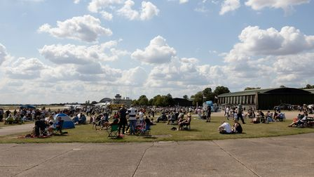 The crowd at IWM Duxford for the flying day.