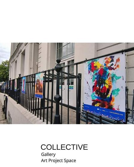 City Summer Scapes - artwork outside St Albans Museum + Gallery.