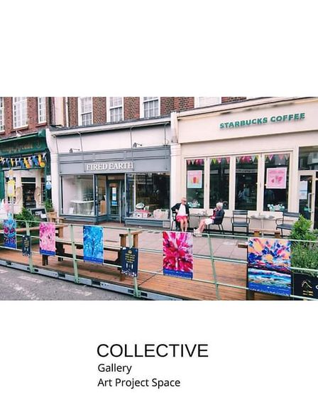 City Summer Scapes - artwork in St Albans High Street.