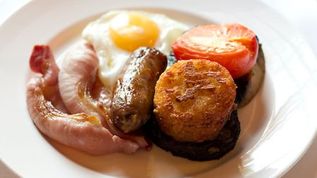 Just an example of the breakfast food on offer at The Old Bridge in Huntingdon.