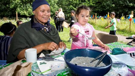 People of different ages came together to enjoy Gillespie Park nature reserve in Highbury