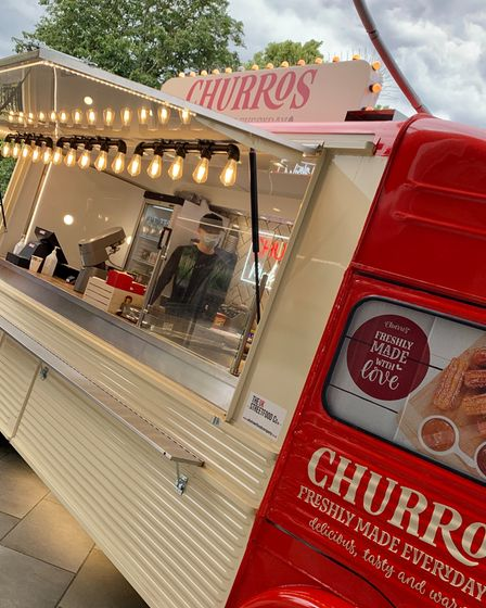 The new Norwich churros van is located opposite Superdry.