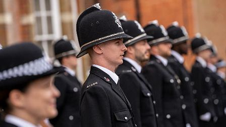 Essex Police new recruits in the passing out parade