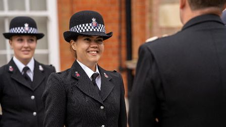 Female police officers at Essex Police's latest passing out parade
