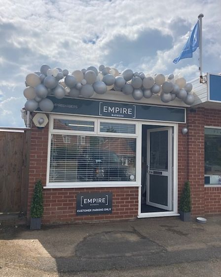 The opening day of Empire Barbers in Hellesdon on July 31, 2021.