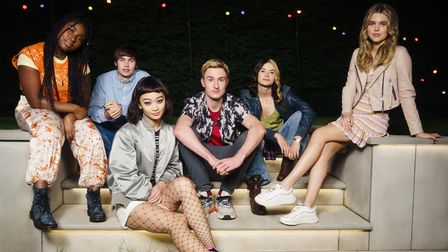 The cast of Tell Me Everything - Lauryn Ajufo, Spike Fearn, Callina Liang, Eden H. Davies, Tessa Lucille and Carla Woodcock