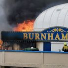 Fire crews have tackled a fire at the back of Burnham-on-Sea pier this afternoon (Thursday).