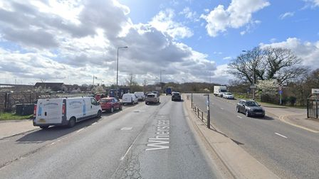 The incident happened near Bourne Bridge in Ipswich, which leads to the A14