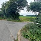 The proposed new development at Capel Grove, right, is next to the A12.