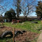 The Our Space garden at the Acorn Centre