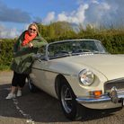 My Cornwall with Fern Britton EP 1. (Fern Britton) with the vintage MGB that she drives in the serie