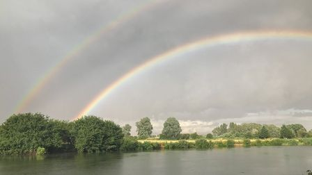 Peter Turner captured this image of a rainbow at Offord.