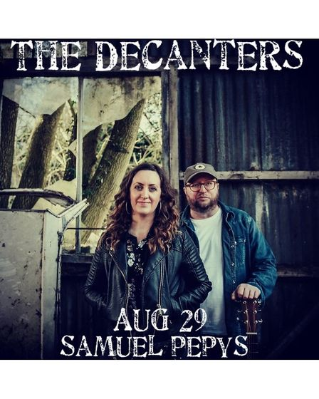 Mel and Warren's band The Decanters perform across Cambridgeshire.
