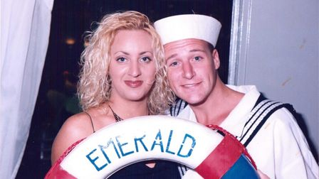 Mel in her cruise ship days, performing around the world.