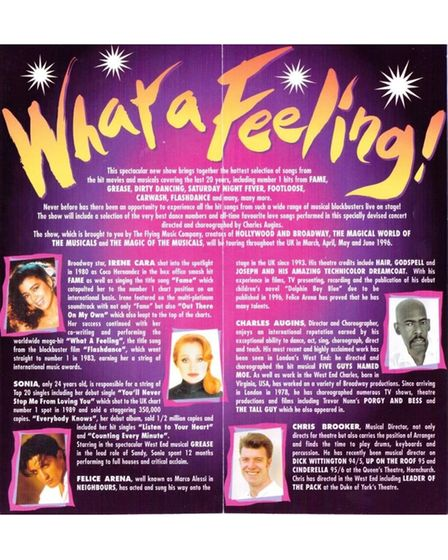 Mel featured on the nationwide 'What a Feeling' tour at the time the Spice Girls released'Wannabe'.
