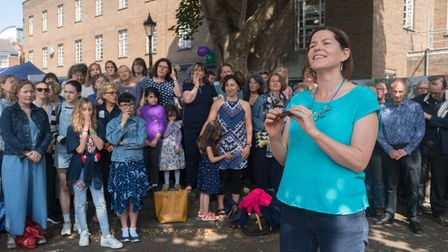Songworks, a Crouch End community choir, perform at the festival. Picture: Siorna Ashby