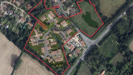 An overhead view of the development planned for land off Norwich Road, Corpusty.
