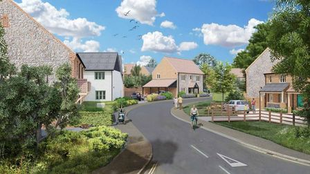 A computer-generated view of how the development planned for land off Norwich Road, Corpusty could look.
