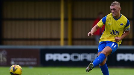 Jake Andrews of Torquay United during the pre-season friendly match between Tiverton Town and Torqu