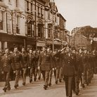 US Forces march along the Quay