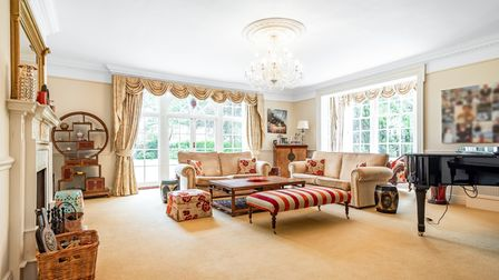 One of the interiors of Rushmere Lodge, Ipswich, which is on the market with Savills with aguide price of £1.5million