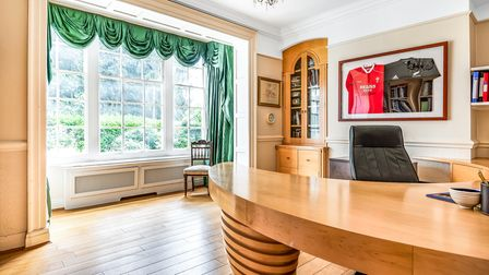 One of the spacious interiors at Rushmere Lodge, on the outskirts of Ipswich, being marketed by Savills