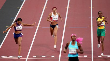 Great Britain's Jodie Williams finishessixth in the 400m final at the Tokyo 2020 Olympic Games.