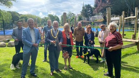 The Worshipful the Mayor of Torbay, councillors and key community stakeholders for Upton celebratedthe opening of Upton Park