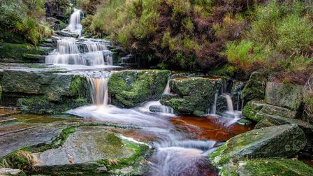 Middle Black Clough Upper Waterfall