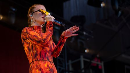 Jess Glynne's Newmarket Nights concert at Newmarket Racecourses.