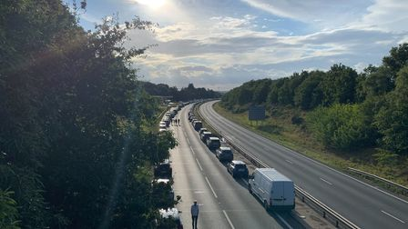 Severe delays were caused on the Orwell Bridge this evening