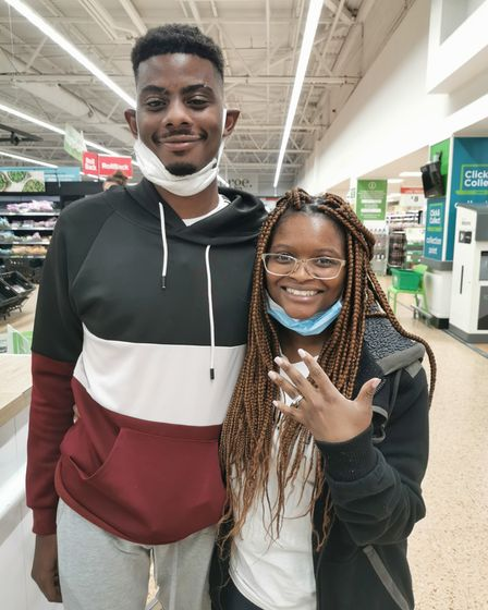 Astrolisa and Itayi Mukonyora got engaged in Asda following a surprise proposal last yearand have since married.