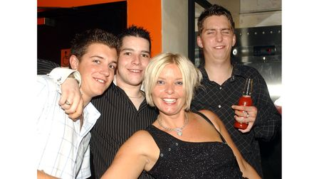 Some of those enjoying a night out at Betty's in Ipswich in 2003