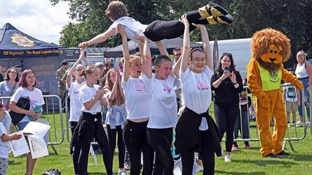 There was plenty of entertainment for visitors at the Huntingdon Carnival.