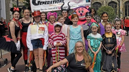 The Generations Dance School performed at Huntingdon Carnival.